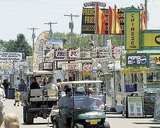 Sunny skies brought out a good crowd for the opening of the 164th Trumbull County Fair on Tuesday.