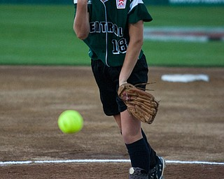 Aleah Hughes pitches some heat during the World Series of Little League Softball in Portland, Ore., July 13th, 2010. The team from Poland, OH went on to beat the team from Brenham, TX, 5-4.