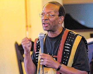 Ron Daniels speaks at St. Augustine Church on Thursday evening.