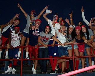 Austintown Fitch student section at the home opener against Chaney Cowboys