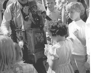 Chuck Cavanaugh of New Middletown submitted this Canfield Fair memory of an organ grinder and his monkey touring the fair, which he took in 1968.