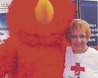 Annette McCarthy got to meet Elmo at the fair.