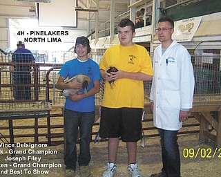 Vince Delsignore won Grand Champion for his duck and Joe Filey won Grand Champion and Best of Show for his chicken.