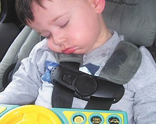 Vincent Boila of Struthers, 2, catches up on sleep after a long day at the 2009 fair. This photo was submitted by Judy Wilson of Struthers, Vincent's grandmother.