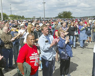 ROBERT K. YOSAY | THE VINDICATOR..GM Lordstown  Kicked Off the Chevy Cruze today at the Lordstown Plant  with the President of GM - Tim Ryan - The Boardman Band and a slew of elected officials -..-30-..
