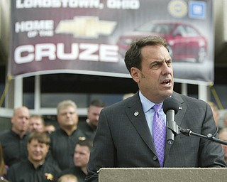ROBERT K. YOSAY | THE VINDICATOR..Mark Reuss   - .GM Lordstown  Kicked Off the Chevy Cruze today at the Lordstown Plant  with the President of GM - Tim Ryan - The Boardman Band and a slew of elected officials -..-30-..