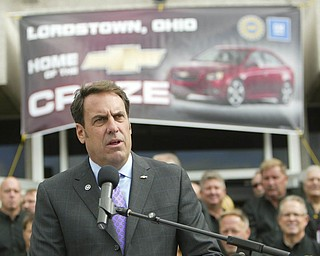 ROBERT K. YOSAY | THE VINDICATOR..Mark Reuss - GM Lordstown  Kicked Off the Chevy Cruze today at the Lordstown Plant  with the President of GM - Tim Ryan - The Boardman Band and a slew of elected officials -..-30-..