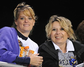 Rocket moms Tonya Boggia and Theresa DeFrank during the Lowellville / Springfield game