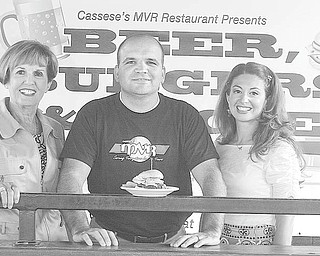 Nick Mays | SPECIAL TO The Vindicator: From left, Julie Costas, Joe Cassese and Natalie Lariccia are working to help the public library system in our area by promoting passage of its 1.8-mill five-year operating levy on the November ballot. Costas and Lariccia are chairwomen of a fundraiser that will take place at MVR Restaurant on Oct. 5, and Cassese is a member of the family that runs MVR.