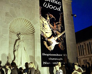 William D. Lewis The Vindicator Spectators line up outside Ronnie Wood exhibit at the Butler Museum of American Art Sept. 21, 2010.