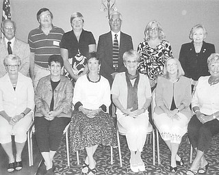 Retired teachers are, seated, from left, Margie Patterson, Marilyn Mastronarde, Audrea Neri, Janet Douds, Sue Stratton, and Jennie Angel-Ross. Standing are MRTA Membership Chairman Paul Rossi,  Mark Haverstock, Marge Topoleski, Edward Katzman, Suzanne Winick, and Dorothy Burke, MRTA president.
