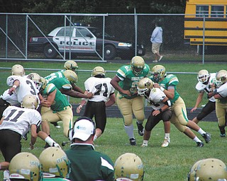 The Fighting Irish of Ursuline High School are shown in action during a home game against Bethlehem Catholic.