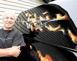 Steve Chaszeyka is the wizard behind Wizard Graphics, a custom pinstriping and airbrush business located in New Middletown. Steve and his wife, Carol, have owned and operated the shop for about 45 years..