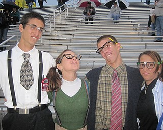 Ursuline fans dressed as nerds