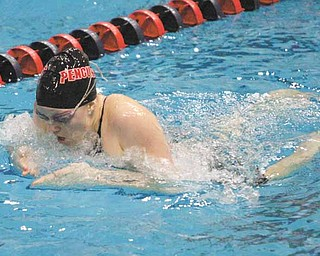 Youngstown State swimmer Samantha Roberts set school records in the 100- and 200-yard breast