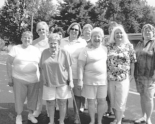 No need to walk alone: TOPS Chapter 1497 of Austintown has started a program for walkers. The group meets at 10:45 a.m. each Thursday at Smith Corners United Methodist Church, 3000 S. Canfield Niles Road, Austintown, for 30 minutes of walking exercise. Those who want the exercise but do not want to walk alone are welcome. Prepared to welcome new walkers are, from left, front row, Wanda Hughes, Connie Patchell, Mary Davis, Cathy Mitchel, and Bobbi Kalmer, and in back, Barbra Blinkenderfer, Donna Woodworth, Rae Jones, Judy Sutton and Ellen Prosser.
