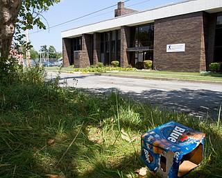 Geoffrey Hauschild|The Vindicator.9.7.2010.A beer box sits discarded across the street from OVTC..