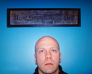 Greg Todd's intake photo to Teen Challenge.