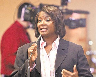 """Councilwoman Janet Tarpley, D-6th, presented the three phases of """"Operation Redemption"""" aimed at curbing violence on the South Side."""