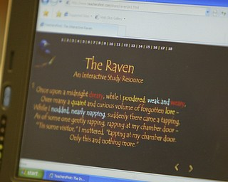 ROBERT K. YOSAY | THE VINDICATOR..Ninth graders at Jackson  Milton High School taught  fourth graders an interactive poetry lesson during a reading of The Raven by Edgar Allan Poe...The Poem..  --30-..