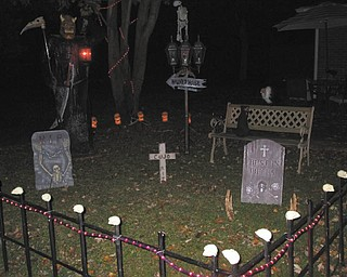Decorations at Jason Burgermyer's annual haunted house in Cortland. Photo sent in by Barb Bradford.