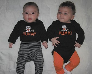 They love their grandmummy, too! Proud grandma Alice Steiner has sent in this photo of Abbey Steiner and Maddie Steiner, cousins from Austintown. Abbey is 3 1/2 months old and Maddie is 2 1/2 months old in the picture.