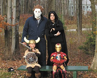 Trevor and Katrina Dyce, along with their children, Chloe and Aidan, all from the Columbus area, are some of her 'scary'-looking family, says Terri Dyce, who sent in this photo. Trevor is a former Girard resident.