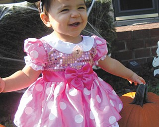 Kayleigh Cruz celebrated her first birthday Oct. 23 with a costume party. Her parents, Victor and Krissy Cruz of Campbell, think she makes the cutest Minnie Mouse ever, and sent in this photo to show everyone.