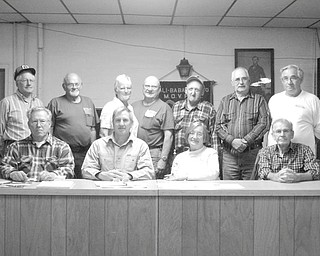 Pulling for tractors: The Antique Tractor Club of Trumbull County recently elected new officers for 2011. They are, seated left to right: Terry Taylor, of Cortland, vice president; Joe Toth, of Champion, president; Marilyn Hanton, of Fowler, secretary; and Cornel Roscoe, of Mecca, treasurer. Standing, from left to right, are the trustees: Lee Silvernail, of Farmington; Don Murphy, of Bazetta, Tommie Tomlinson, of Diamond; Jim Potts, of Berlin Center, Pat Sutliff, of Johnston, Jim Schwartz, of North Bloomfield, and Ray Carr of Champion. The club is reorganizing and preparing for the new year. Upcoming events include the annual Christmas party for members on Dec. 3 at Gardenbrook Banquet Center in Cortland. To become a member call Toth at 330-240-6407 or Taylor at 330-637-8946.