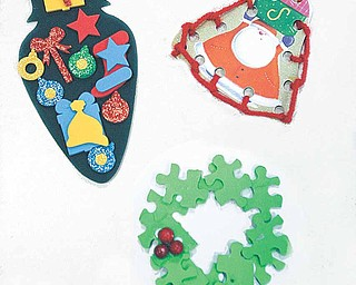 A variety of ornaments were made by students at North Elementary in Poland Tuesday.