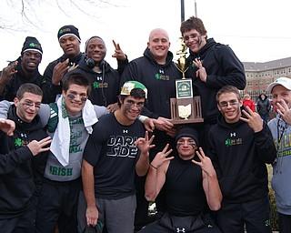 The Ursuline Irish won a third straight state championship title Saturday, Dec. 4, 2010, at Fawcett Stadium in Canton.