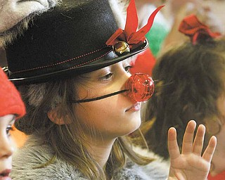 Brooke Kusky played the part of Dominick the Donkey, Italy's version of Rudolph. Ninety-two first graders performed in Thursday's show.