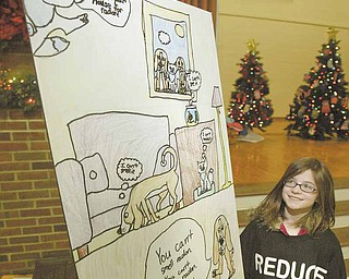 Maggie Brogan, a fourth-grader at Dobbins Elementary in Poland, won the 2011 Ohio Radon Poster Contest. She received an award from the Ohio Department of Health on Thursday.