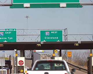 The toll booth at the Ohio Turnpike
