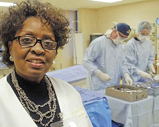 Carole DuBose, program coordinator of surgical technology at Choffin Career and Technical Center, explains the program that recently earned national accreditation through 2020 by the Commission on Accreditation of Allied Health Education Programs.