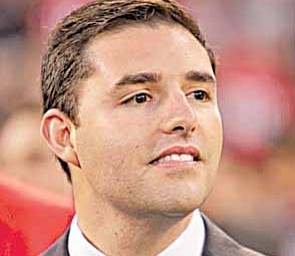 San Francisco 49ers president Jed York at an NFL football game between the San Francisco 49ers and the New Orleans Saints in San Francisco, Monday, Sept. 20, 2010.