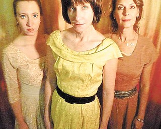 """Alyssa Connelly, Molly Galano and Grace Vouvalis in Rust Belt Theater Company's """"Medea."""""""