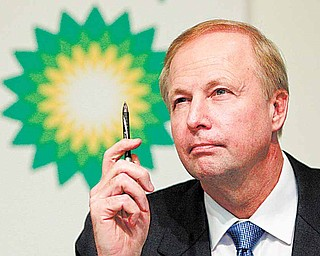 FILE - In this Nov. 2, 2010 file photo, BP PLC Chief Executive Bob Dudley speaks at a news conference at their headquarters in London. As the Gulf oil spill gushed out of control this summer, BP's financial liabilities expanded so rapidly that experts wondered if the company had drilled its last well. Only months later, though, the British oil giant has pulled itself back from the brink.