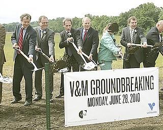 Hundreds break ground for V&M Star expansion.