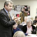 U.S. Sen. Sherrod Brown spent time Tuesday at the Austintown Senior Center touting new benefits that took effect Jan. 1 under the health care reform law.