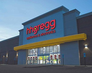 By late spring, the facade of the former Sofas Plus will be transformed into an hhgregg store, similar to the one pictured. The Indiana-based electronics and appliance company will open its 175th store on U.S. Route 224 in Boardman.
