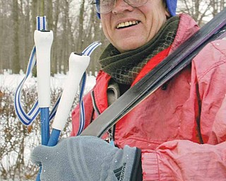 Andy Niedra of Beaver, Pa., enjoys an afternoon of cross-country skiing. He was at the Mill Creek MetroParks golf course in Boardman on Thursday. Niedra says he often skis at the course because he enjoys the scenery and easy terrain.