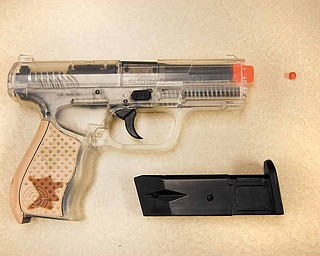 This is the air soft gun fired by a 14-year-old male student at William S. Guy Middle School in Liberty School District. The shot hit a 13-year-old male student Tuesday afternoon.