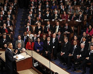 President Barack Obama delivers the State of the Union address on Capitol Hill in Washington, Tuesday, Jan. 25, 2011.  (AP Photo/Evan Vucci)