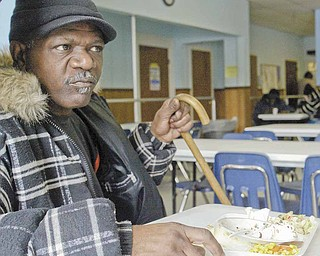 Ray Pruitt of Youngstown is a regular at the St. Vincent DePaul Society Dining Hall in Youngstown. He says he stops about three times a week for lunch.