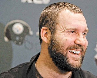 Pittsburgh Steelers quarterback Ben Roethlisberger answers questions during a news conference on Monday, Jan. 31, 2011, in Fort Worth, Texas. The Steelers will play the Green Bay Packers in NFL football Super Bowl XLV Sunday, Feb. 6.