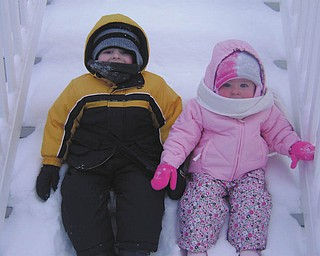 All bundled up for some fun in the cold are Matthew and Makenna Wymer of New Middletown. Their parents are Matt and Jessica Wymer, who submitted the photo.