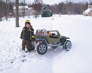 Julie Pagnotta says Andrei Pagnotta of Struthers is stuck in the snow on the way to the SuperBowl!