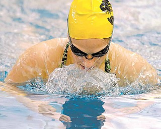 McDonald's Katie Joseph during practice Wednesday at the Warren Harding High School pool