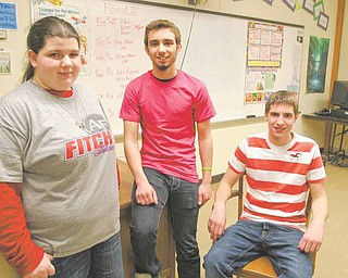 Austintown Fitch High School students Kimberly Bennett, Francis Trio and Jason Miller volunteer in various Safe and Drug-Free Schools programs.